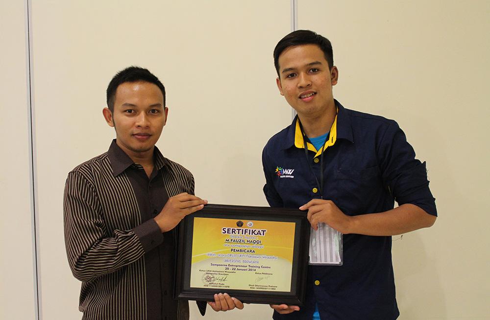 Dapat sertifikat, bisa buat kenang-kenangan