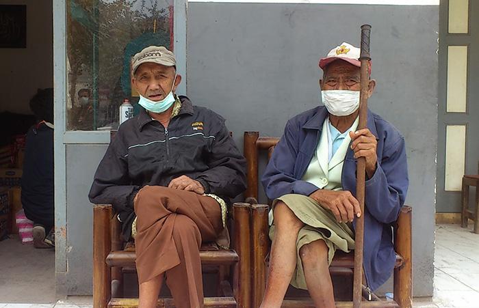 Salah satu wajah pengungsi bencana Gunung Kelud